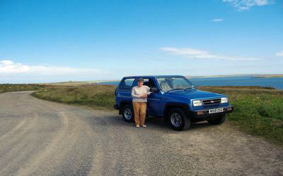Looking east to S. Ronaldsay (and Me!)
