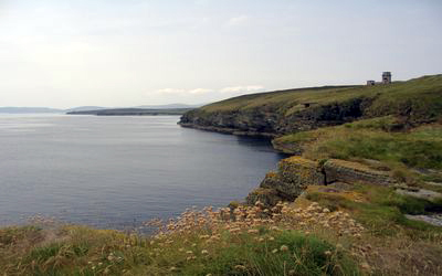 Looking west to Hoy