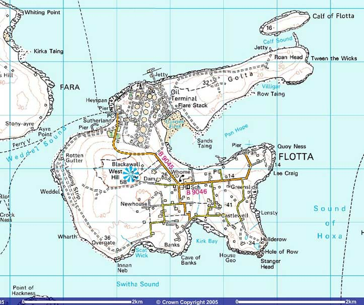flotta map Map of Flotta   2005