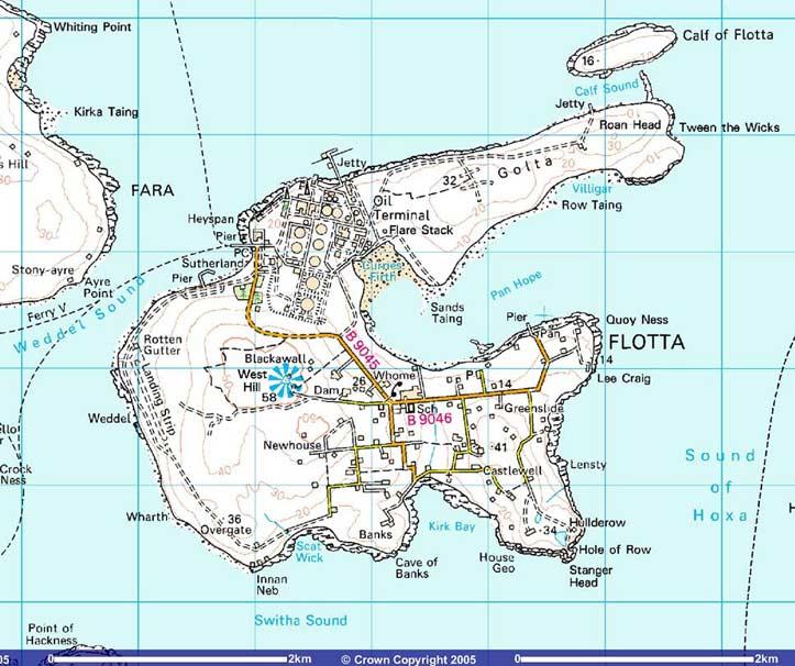 flotta map Map of Flotta   2005
